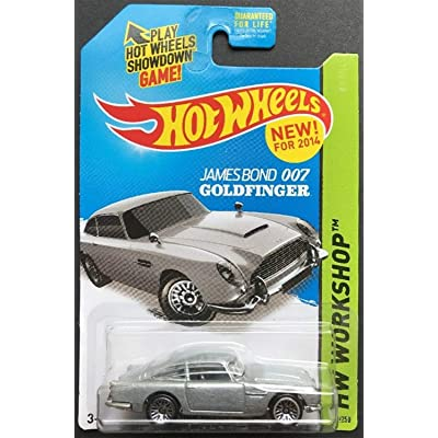 2014 Hot Wheels Hw Workshop - James Bond 007 Goldfinger Aston Martin 1963 DB5 - [Ships in a Box!]: Toys & Games