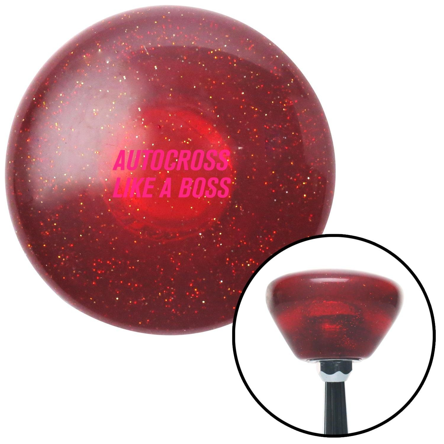 Pink Autocross Red Retro Metal Flake with M16 x 1.5 Insert American Shifter 290577 Shift Knob
