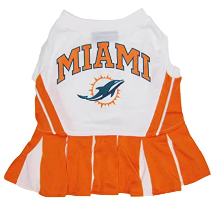 Amazon.com   Miami Dolphins NFL Cheerleader Dress For Dogs - Size X ... cf9122b14