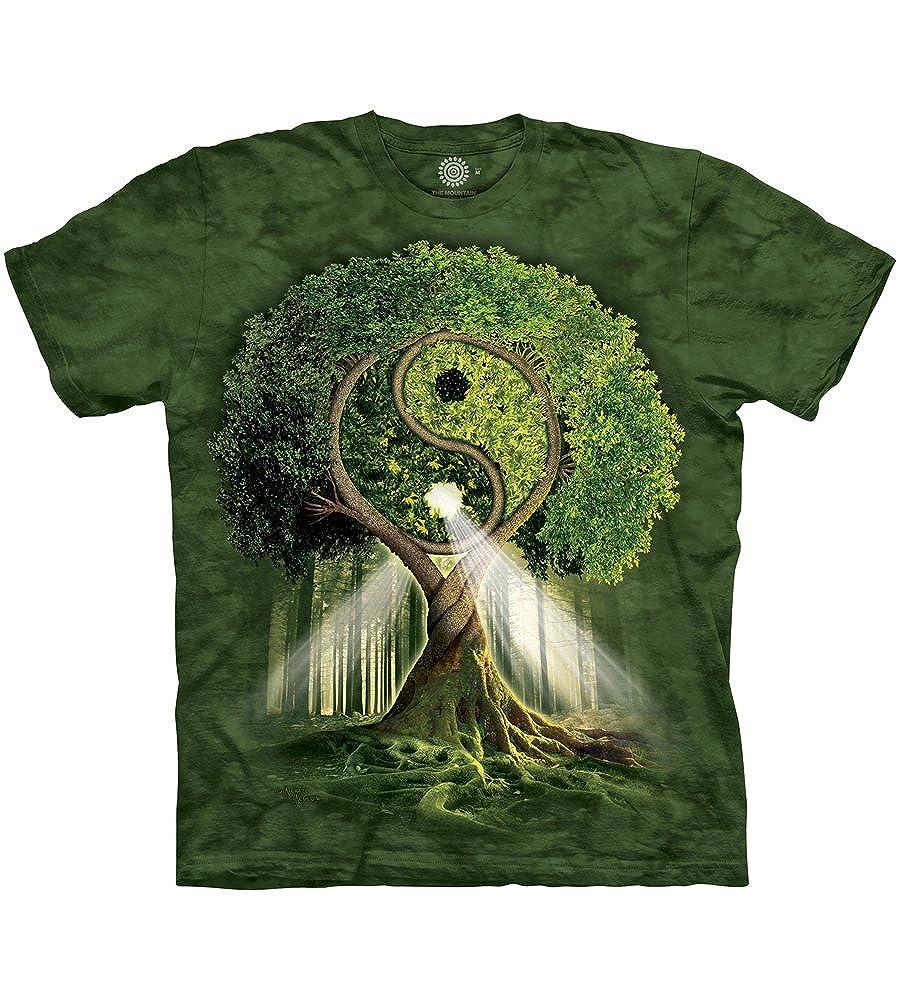 The Mountain Men's Yin Yang Tree Adult T-Shirt The Mountain Men's Tops 103209