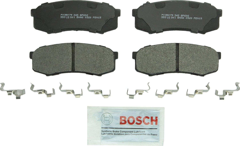Land Cruiser FJ Cruiser GX470 LX450; Toyota 4Runner Rear Sequoia Bosch BP606 QuietCast Premium Semi-Metallic Disc Brake Pad Set For: Lexus GX460