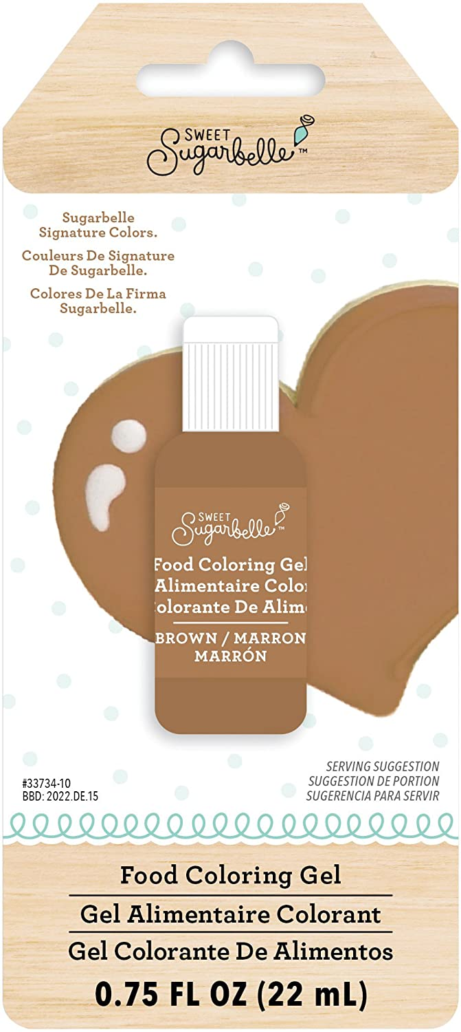 Amazon.com: Sweet Sugarbelle 345547 Brown Gel Food Coloring ...