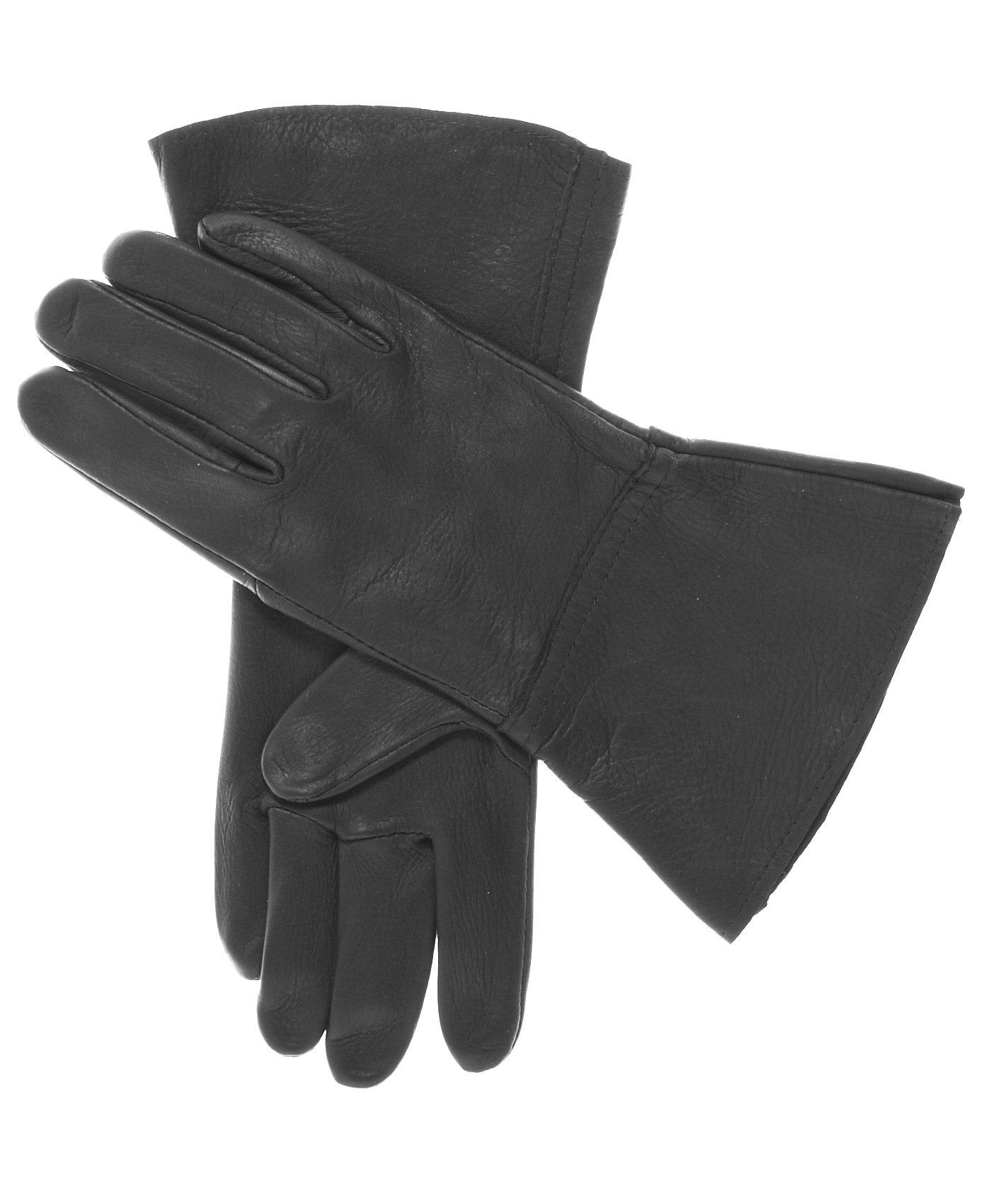 Geier Glove Men's Deerskin Gauntlets Size 7 Color Black