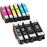 Anbo 10 pack Remanufactured Replacement for Epson 273 xl Ink Cartridges (2 Black 2 Photo Black 2 Cyan 2 Magenta 2 Yellow) compatible to XP-600 XP-610 XP-620 XP-800 XP-810 XP-820 XP-520 Printer