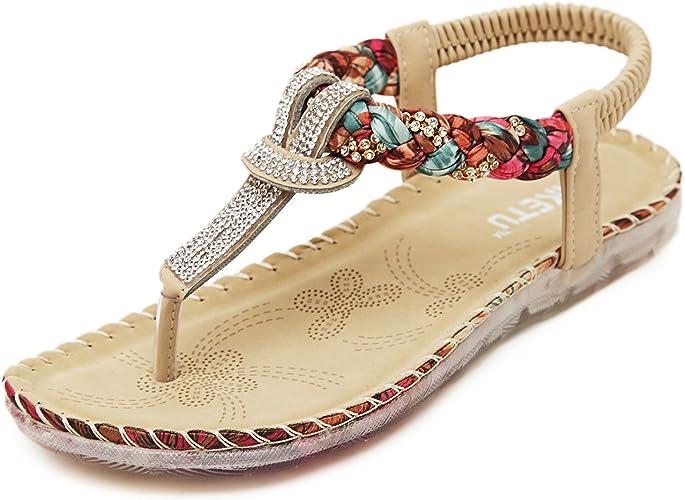 ZOEREA Femmes Eté Flattie Sandale Tongs Flip Plat Flops