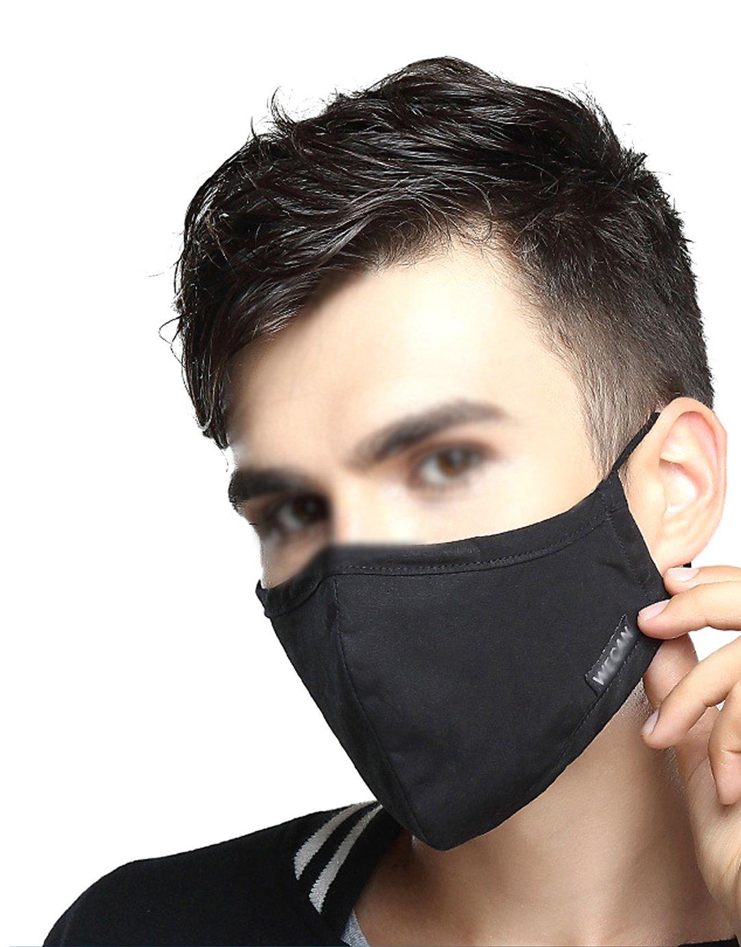 Monique Men Women PM2.5 Cotton Mouth Mask Activated Carbon Filter Anti-dust Warm Face Cover