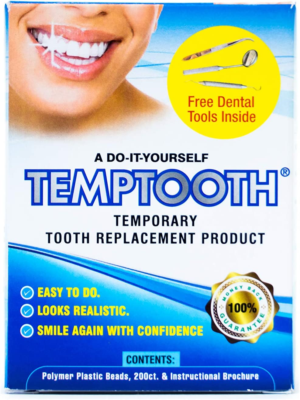 Amazon Com Temptooth 1 Seller Trusted Patented Temporary Tooth