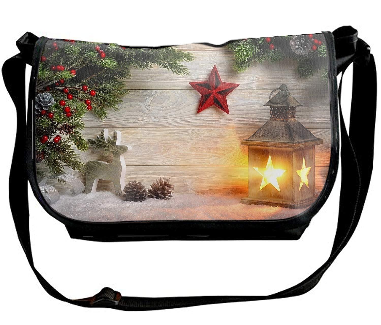 DEZIRO Merry Christmas Animals Pattern School Bag for Men Travel Bag