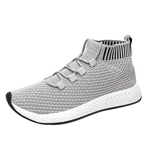 a33f4078913d52 Chaussures Homme 2018 Nouveau Style Haute Aide Cross Tied Doux Semelle  Chaussures De Course Gym Chaussures