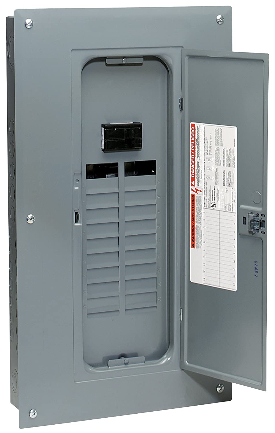 Square d by schneider electric hom20m100c homeline 100 amp 20 square d by schneider electric hom20m100c homeline 100 amp 20 space 20 circuit indoor main breaker load center with cover circuit breakers amazon keyboard keysfo Gallery
