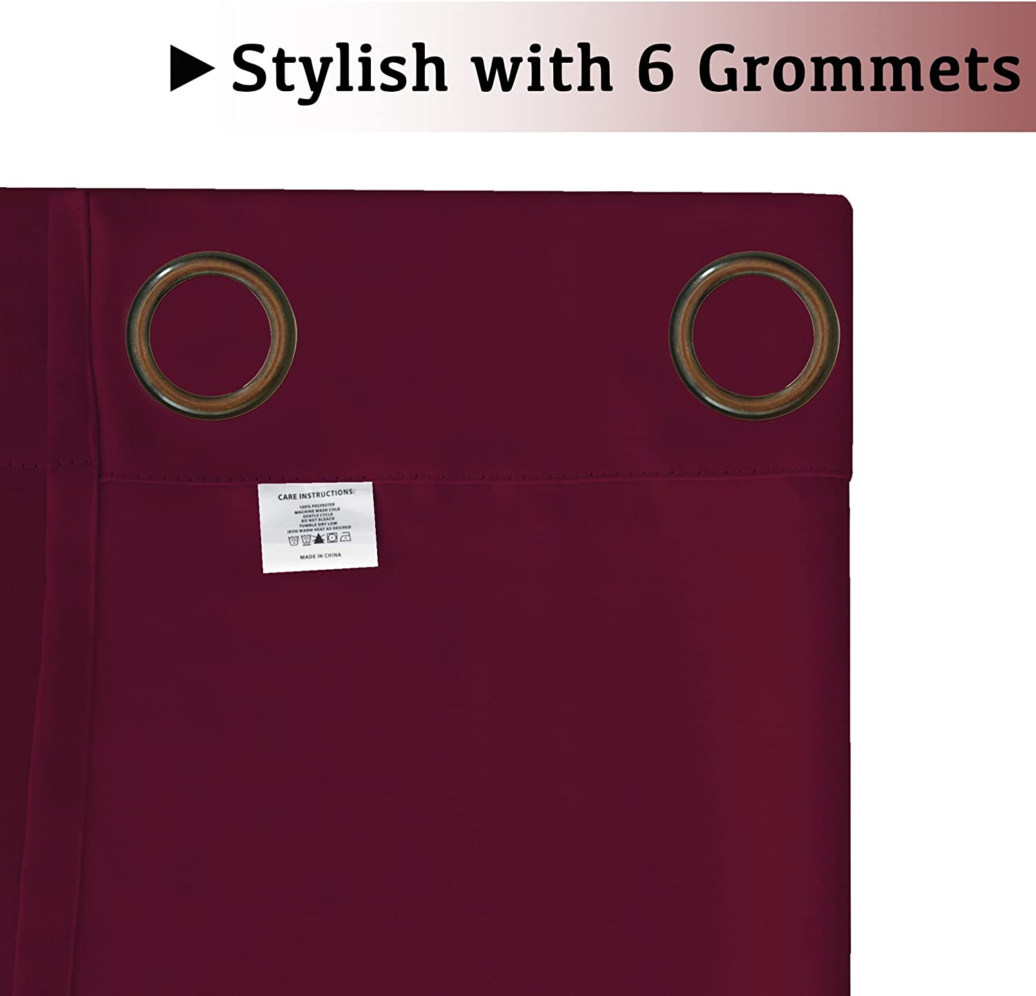 Set of 2 Panels Pure White Grommet Curtains Themal Insulated Nursery /& Infant Care Curtains Each Panel 42 W x 84 L
