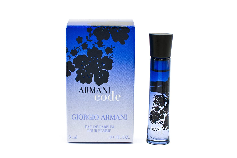 Armani Code para mujer Giorgio Armani Eau de Parfum 3 ml Mini botella de Perfume en miniatura/: Amazon.es: Belleza