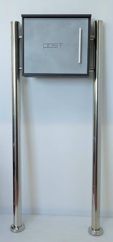 郵便ポスト郵便受け北欧風メールボックススタンド型マグネット付きグレー灰色ポストpm201s B071HXM7VM 18880