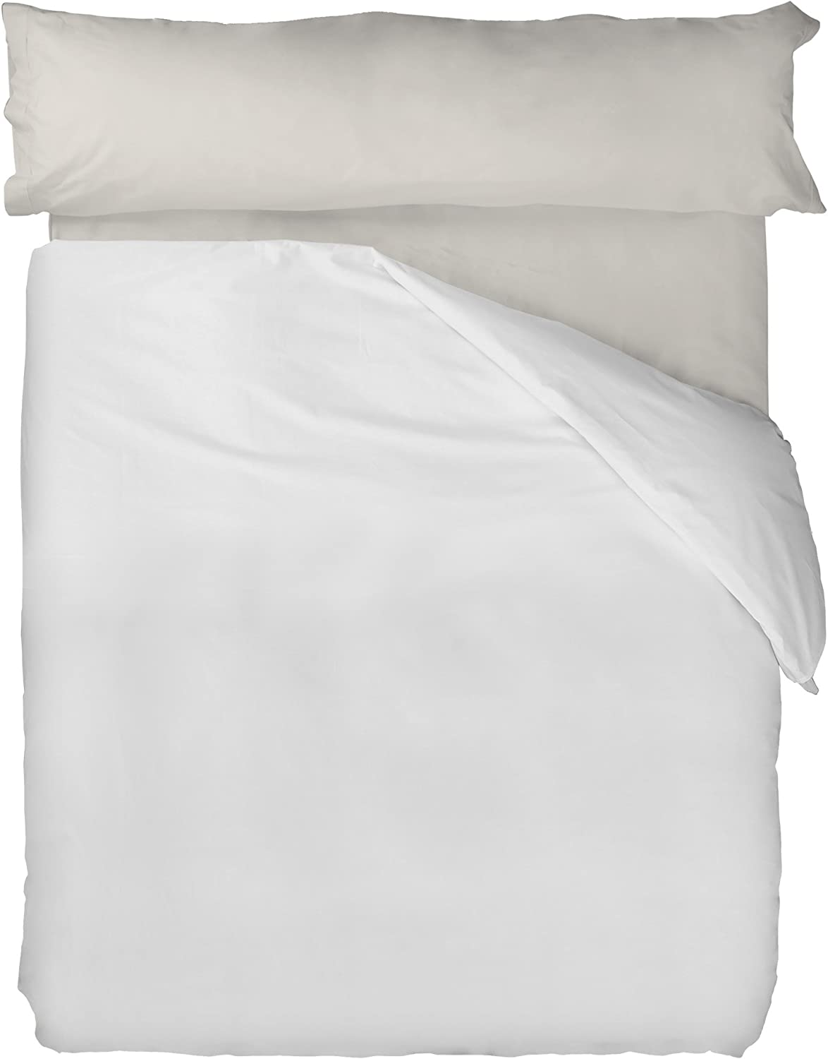 Habita Home Funda NORDICA Lisa Color Blanco ALGODÓN Cama 180 (270x260cm) Color Blanco: Amazon.es: Hogar