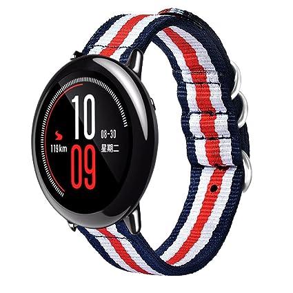 Para Xiaomi huami amazfit deporte correa de repuesto, Y56 Fashion lienzo reloj banda correa con