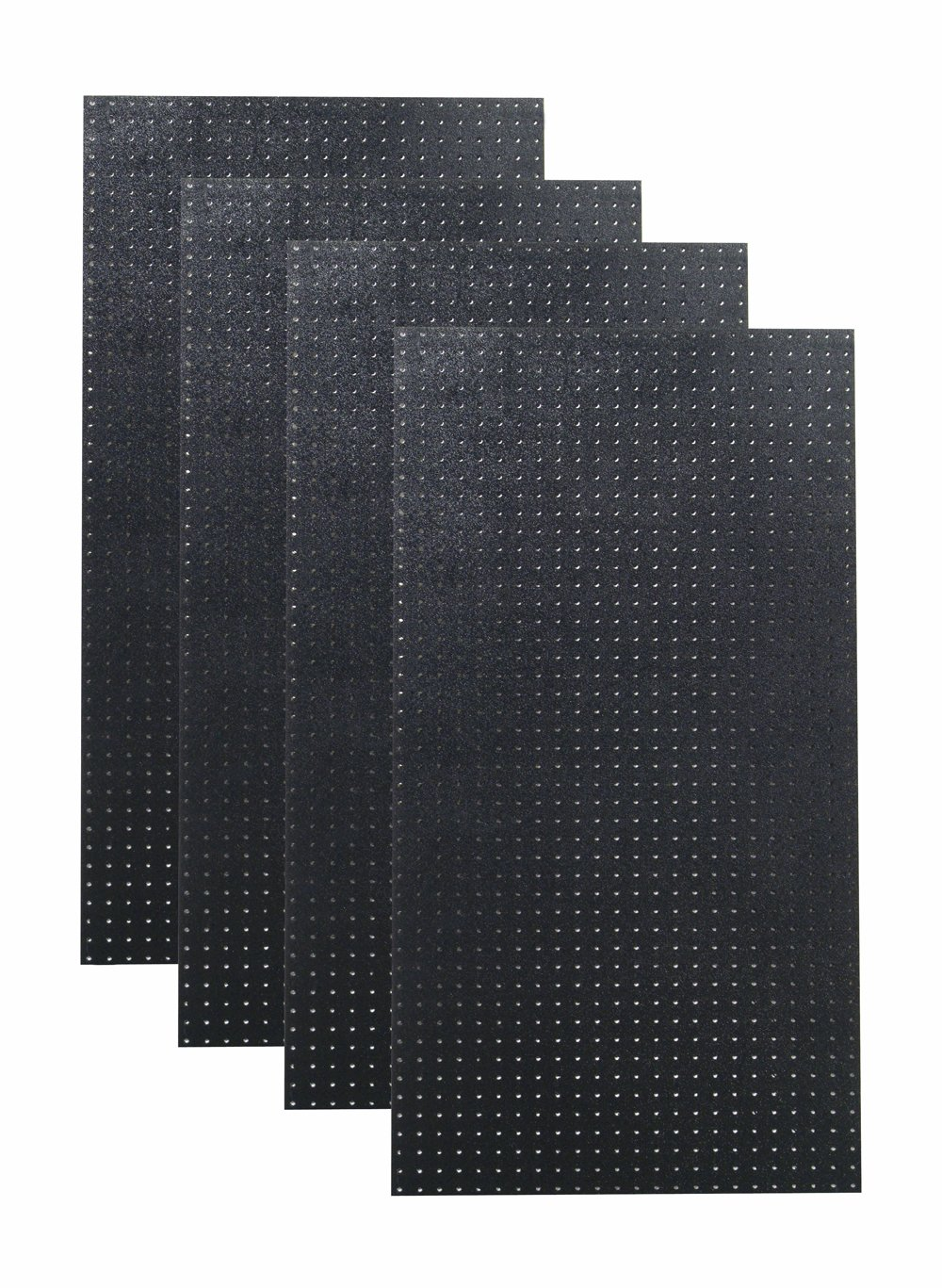 Triton Products DB-4BK Polyethylene Pegboards Matte Front Texture with 9/32'' Hole and 1'' O.C. Hole Spacing, 24 x 48 x 3/16'', Black