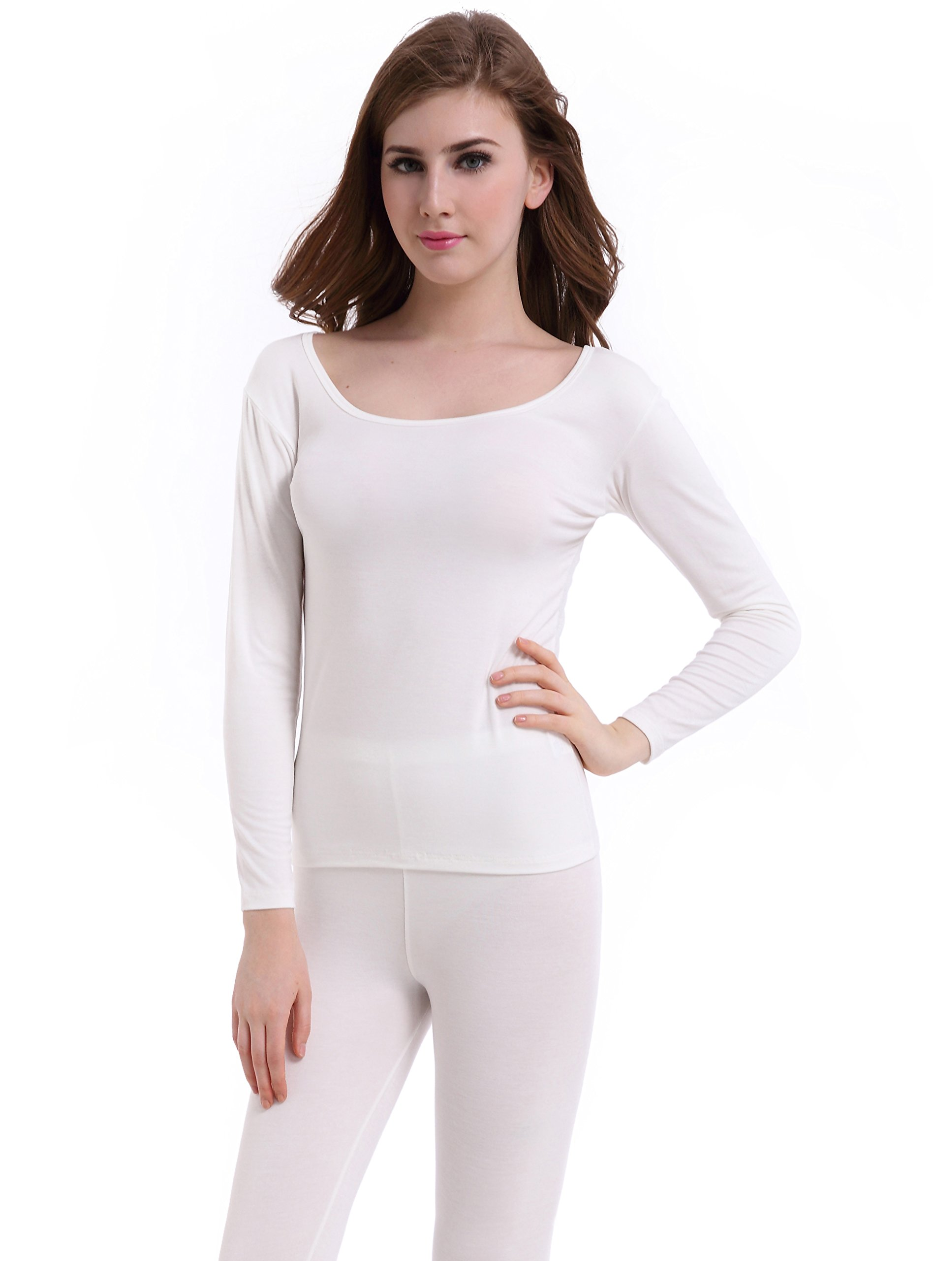 Thermal Underwear Women Long Base Layer Winter -Ultra Thin Set Bottom Pajama