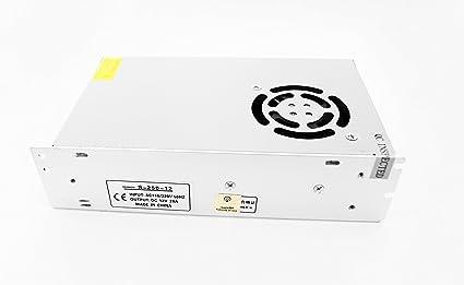 Trasformatore Alimentatore 12V Per Striscia Led Telecamere Videosorveglianza Videocamere Dvr Stabilizzato Switch Trimmer Alluminio Design in Italy 1A LuceS/ì