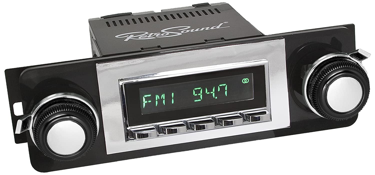 Chrome Face /& Buttons and Chrome Bezel RetroSound HC-113-03-73 Hermosa Direct-fit Radio for Classic Vehicles