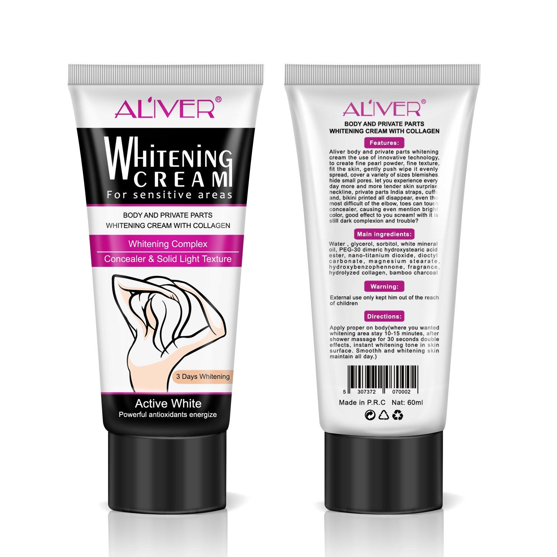 Natural Underarm Whitening Cream, Armpit Lightening & Brightening Deodorant Cream, Body Creams, Underarm Repair Whitening Cream Between Legs Knees Sensitive Areas 60g by ALIVER (Image #2)