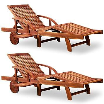 Amazonde Deuba Sonnenliege Tami Sun 2er Set Akazien Holz