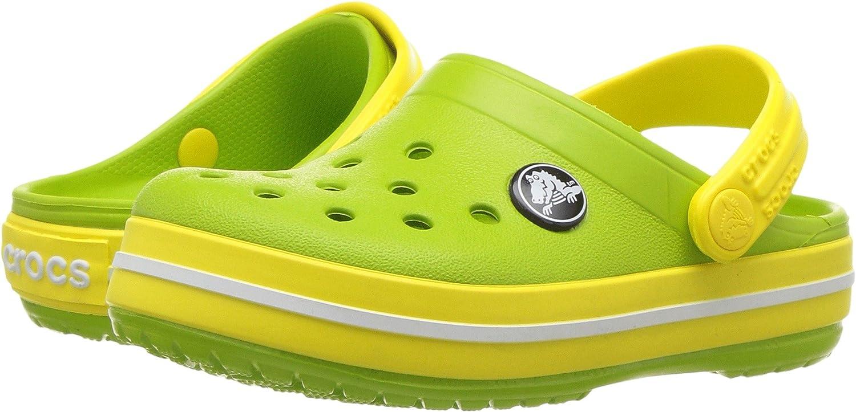 Smoke Croslite Normal Kinder crocs Sandale Crocband Sandal Kids Volt Grün