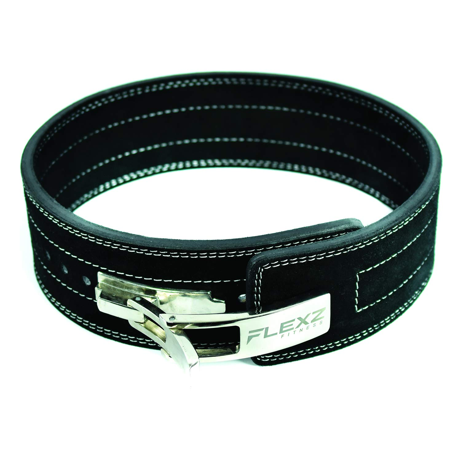 Flexz Fitness Lever Buckle Powerlifting Belt 10mm Weight Lifting Black Medium by Flexz Fitness (Image #1)