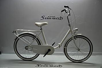 Bicicleta Graziella 24 pulgadas en acero, plegable, monotubo, blanca, negra, gris