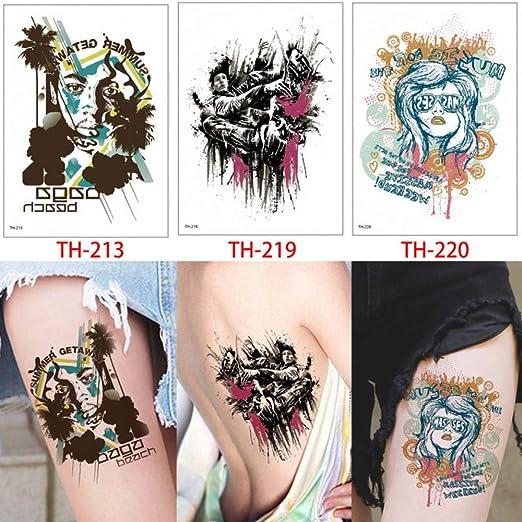 tzxdbh 3 Piezas/Conjunto de Tatuaje Estilo TH Pegatinas geniales ...