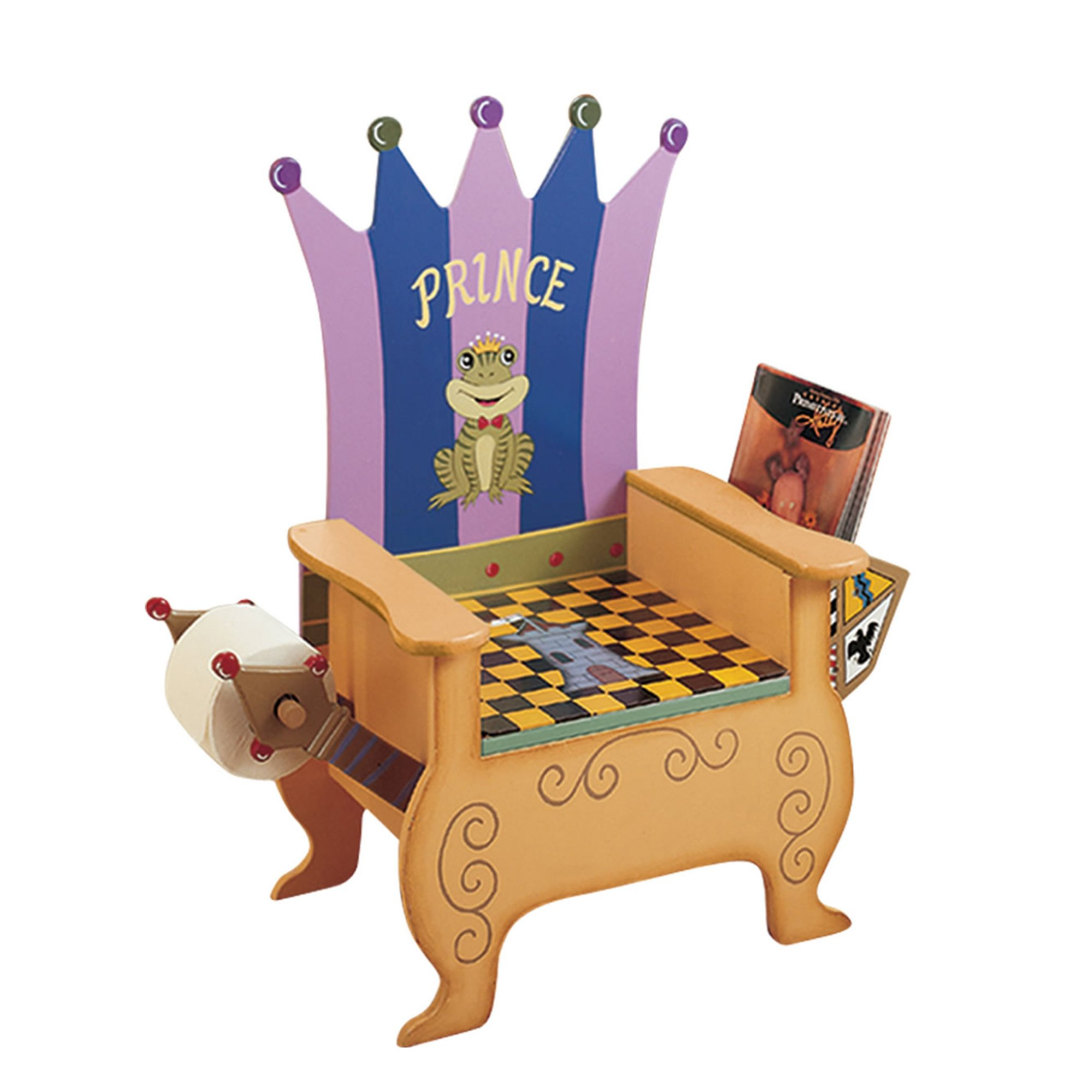 Teamson Kids - Prince Potty Chair with Book Holder and Toilet Paper Holder