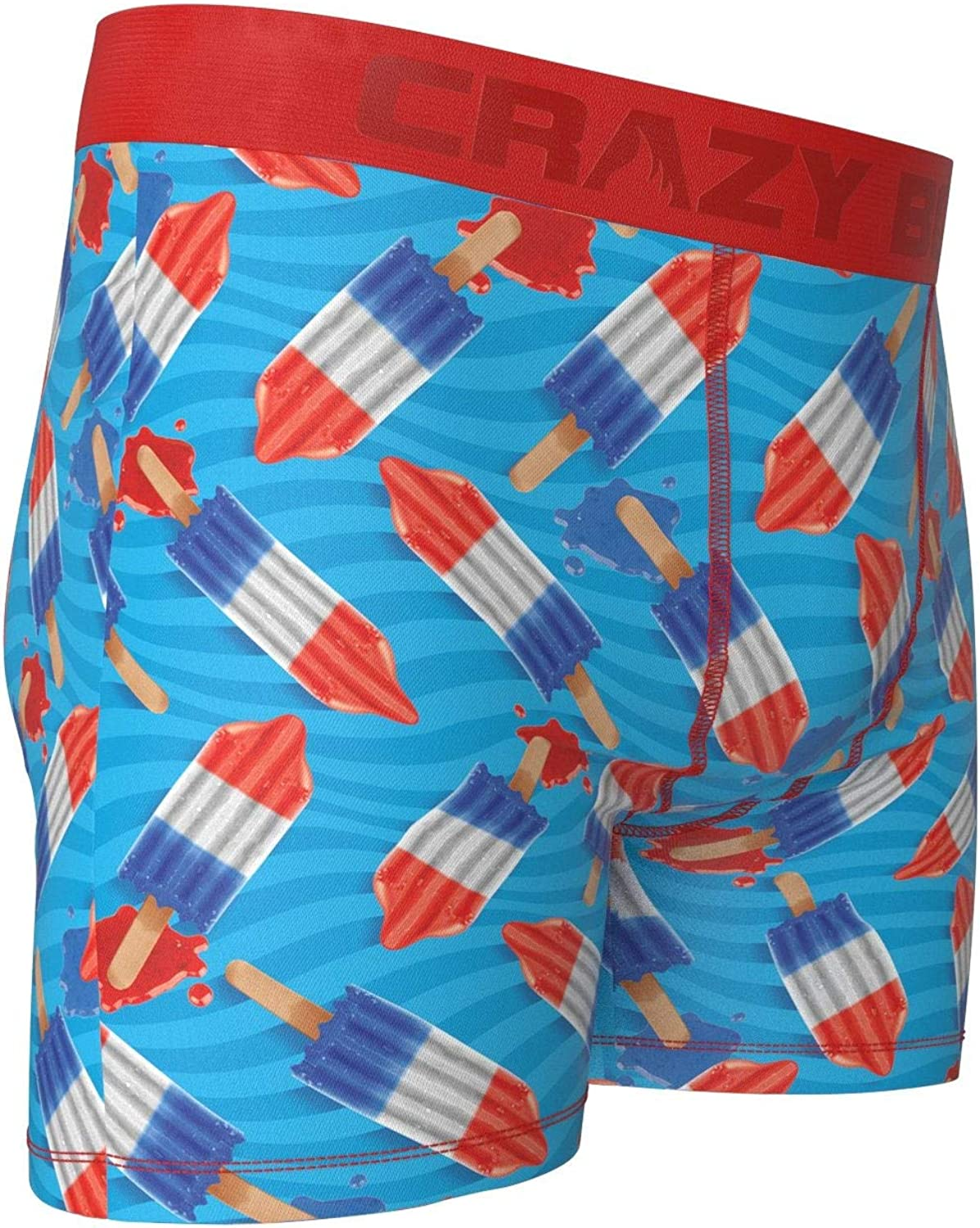 Crazy Boxer Rocket Pops Mens Boxer Briefs X-Large Blue