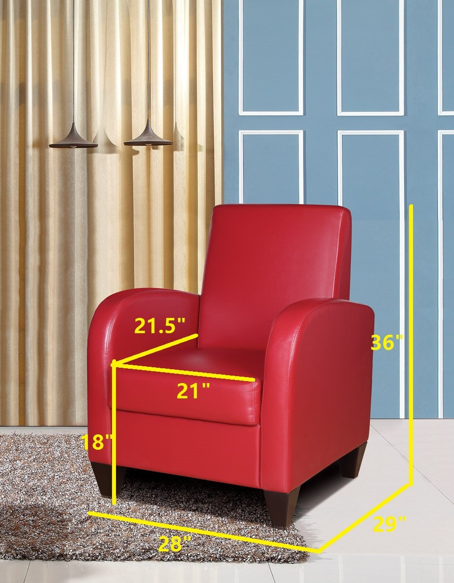 NHI Express David Accent Chair, 1 Pack, Red