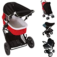 Universal fit Pram and Bassinet Baby Sun Shade and Blackout Blind (0-6m)   Blocks 99% of UV (UPF50+)   Air-Permeable and…