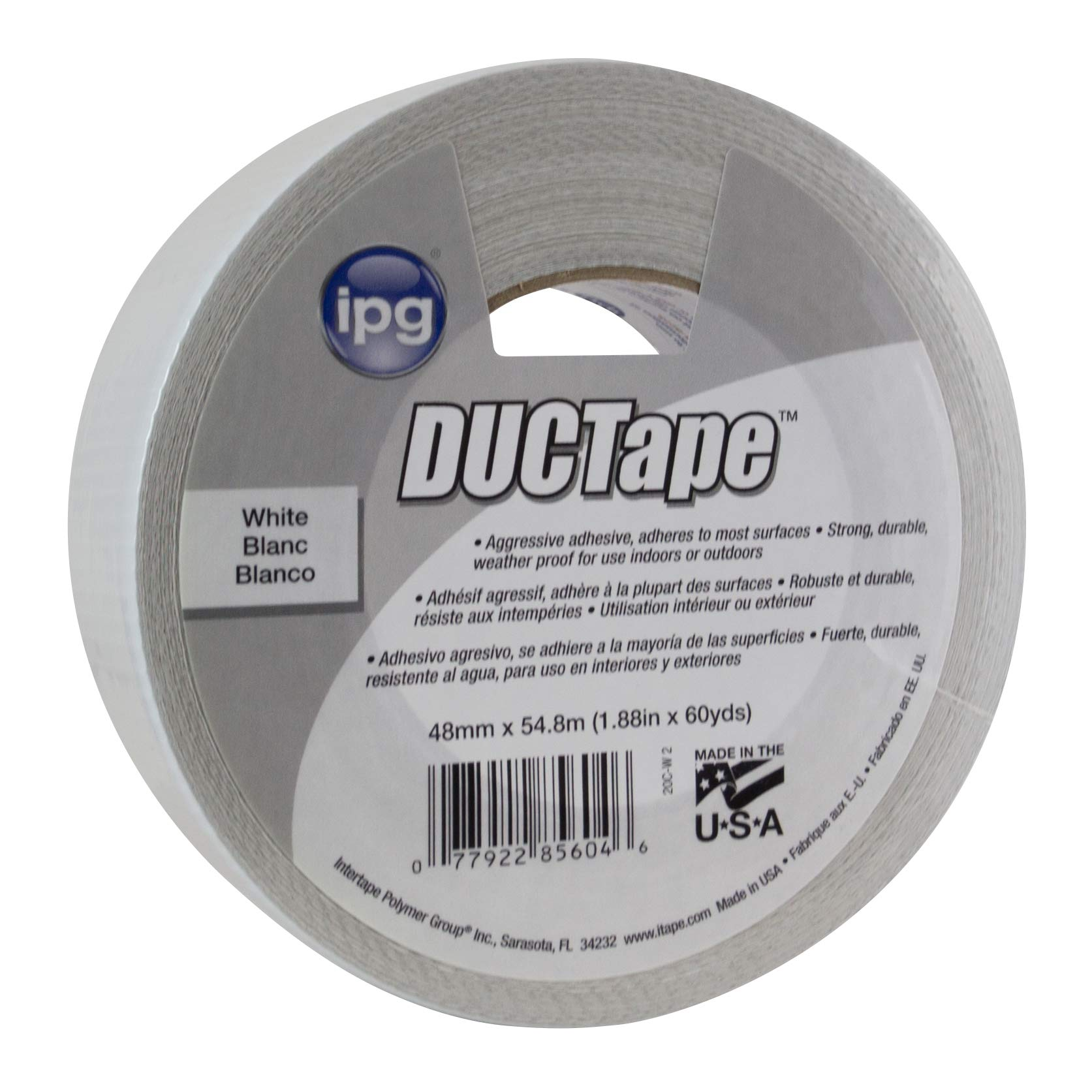 IPG AC20 9 Mil JobSite Utility DUCTape 1.88'' x 60 yd, White