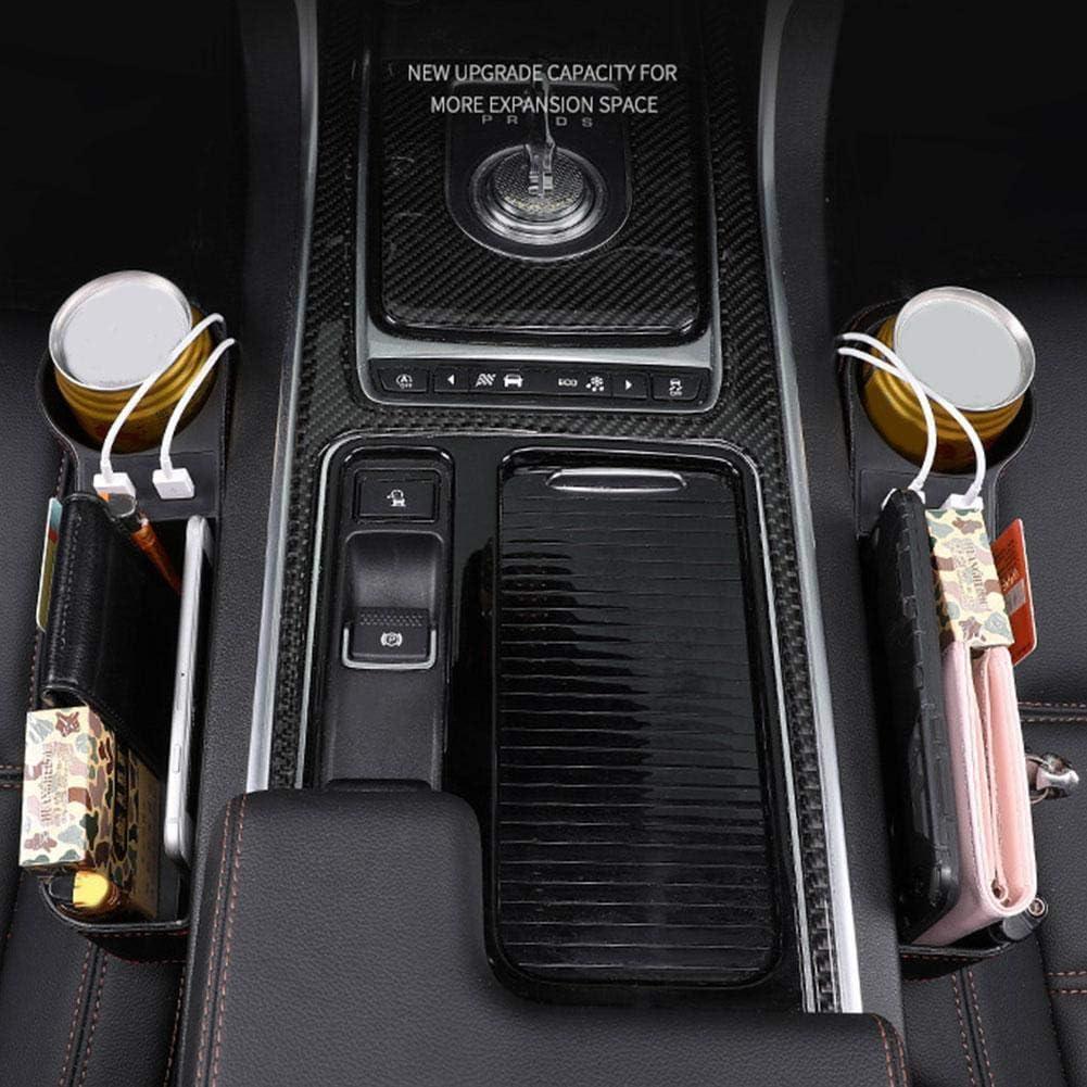 Vano Portaoggetti per Auto,MoreChioce Universale Pelle Sintetica Fessure per Sedile Accessorio per Interno Auto Contenitore Contenitore Portaoggetti per Auto per Portafoglio,Telefoni,Copilota