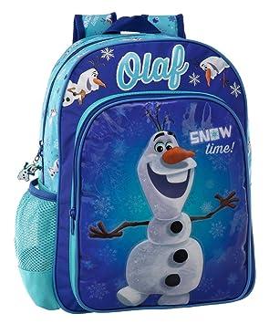 Disney Olaf Snow Mochila Escolar Adaptable a Carro, Color Azul, 15.43 Litros: Amazon.es: Equipaje