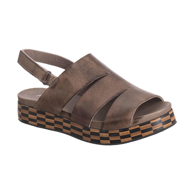Antelope Women's 206 Leather Three Banded Sandal B079G389PF 9 B(M) US / 40 EU|Grey