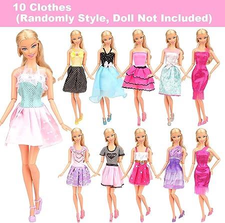 Miunana 16 Ropas para 11.5 Pulgadas 28 -30 CM Muñeca = 10 Ropa De Moda + 3 Vestidos + 3 Trajes De Baño (Estilo Aleatorio)