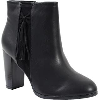 By Shoes Style Cuir Femme Taille Style Bottine 39 Daim Ybf67yg