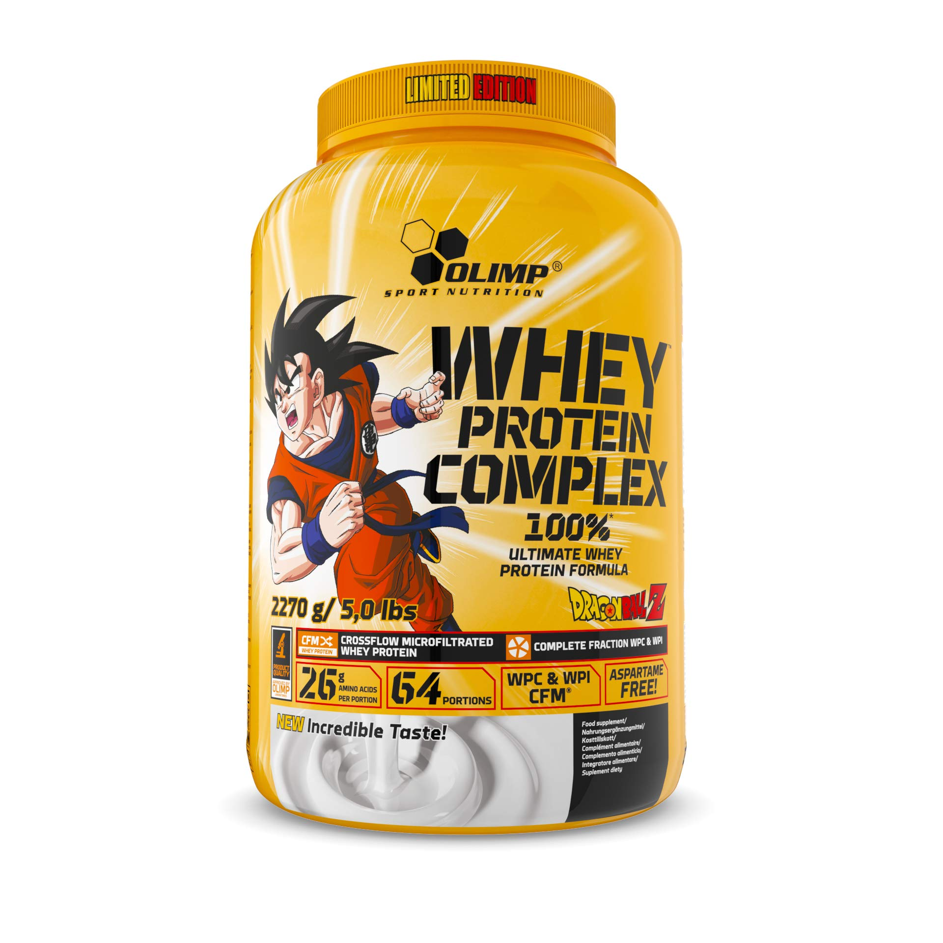 Olimp Sport Nutrition Whey Protein Complex Dragon Ball Tub White Chocolate with Raspberry, 2.27 kg
