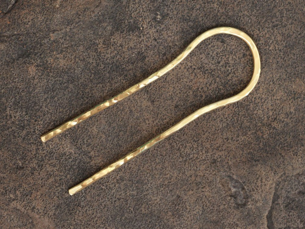 U Shape Brass Hair Pins,Gold Hair Fork Stick,Textured Hair Accessories,Hair Jewelry,jewelry pin