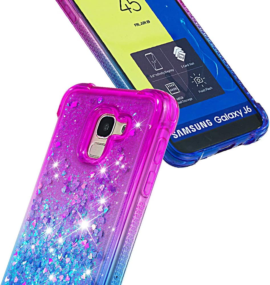 On 6 2018 LOYBO480150 Ring #1 On6 Glitter Silicone Shockproof Soft Rubber Bumper Case Non-Slip Back Cover Thin Fit for Samsung Galaxy J6 Lomogo Case for Galaxy J6