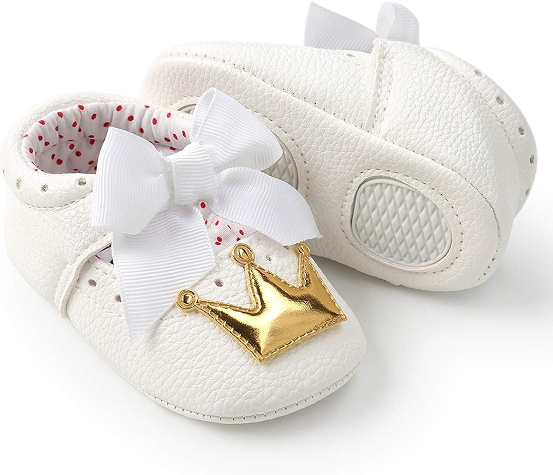 Soft Sole Crib /& Prewalker Crown Girl PU Shoes Garrein Newborn Baby Girls Princess Mary Jane Shoes Infant /& Toddler First Walker Sneakers