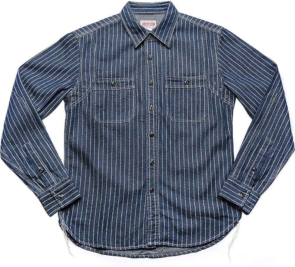Vintage Men's Wabash Discharge Dot Striped Work Shirt
