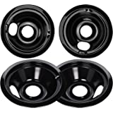 WB31M19 WB31M20 Drip Pan Bowl Set 4 Pack Compatible with GE Electric Range by APPLIANCEMATES, Replacement Part 2 Pack for 8 i