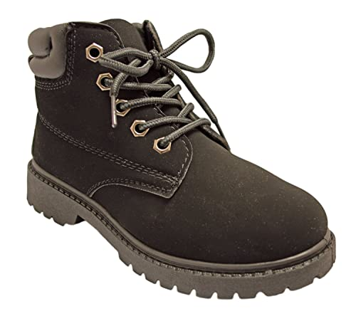 525f4549d344e Charles Albert Kids' Padded Cuff Lace Up Work Engineer Boot