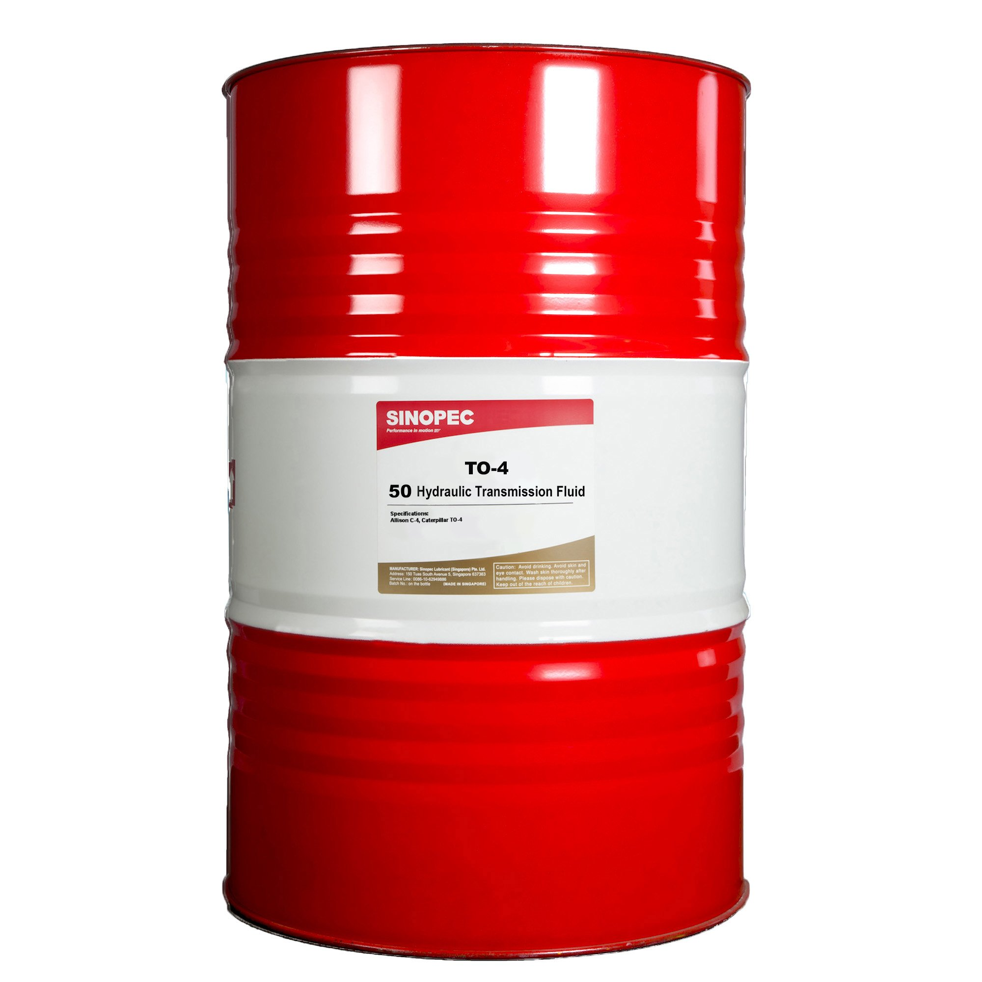 Sinopec TO-4 50 Heavy Duty Transmission Fluid, 55 Gallon Drum