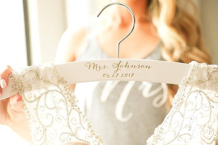 Amazon.com: WEDDING Hanger, Personalized Bride Hanger, Wedding Dress ...