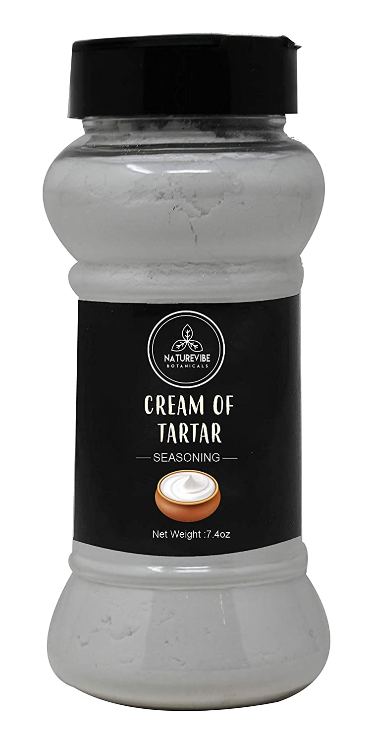 Naturevibe Botanicals Cream Of Tartar, 7.4 ounces   Non-GMO, Gluten Free and Food Grade   Baking Agent and Household Cleaner
