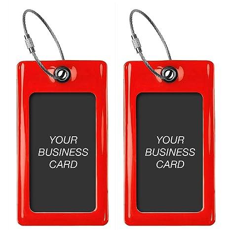 Amazon Luggage Tags Tufftaag Business Card Holder Suitcase